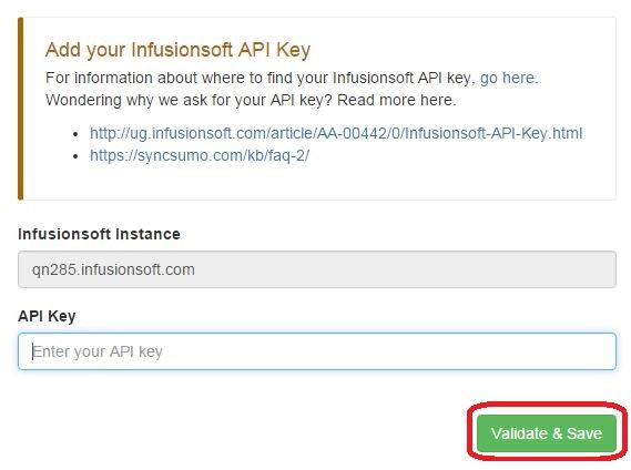 add api key to sync2crm