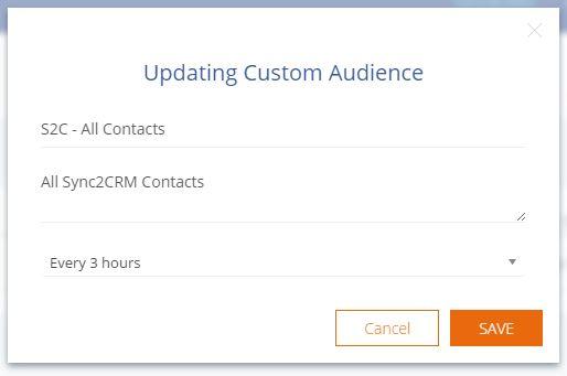 Save Edit To Custom Audience