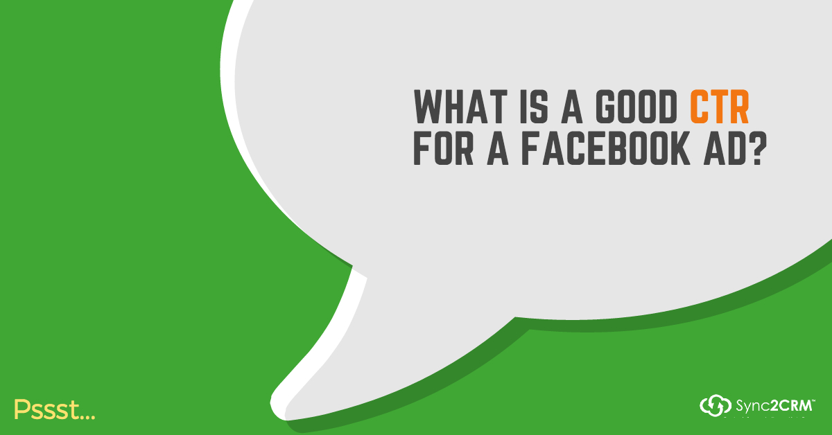 What is a good CTR for a Facebook ad?