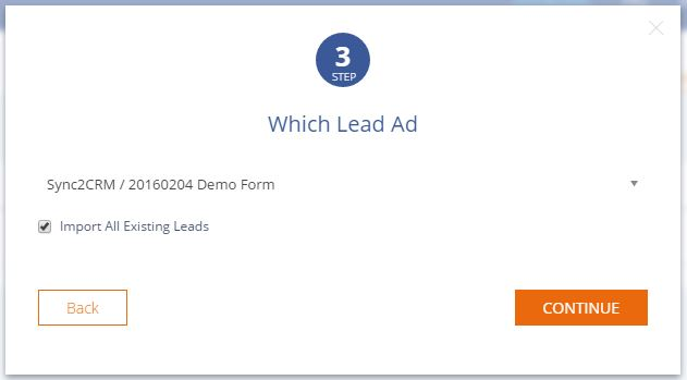 Choose Lead Ad