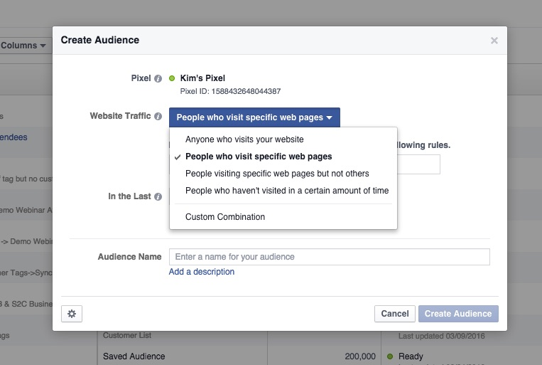 Website Custom Audience