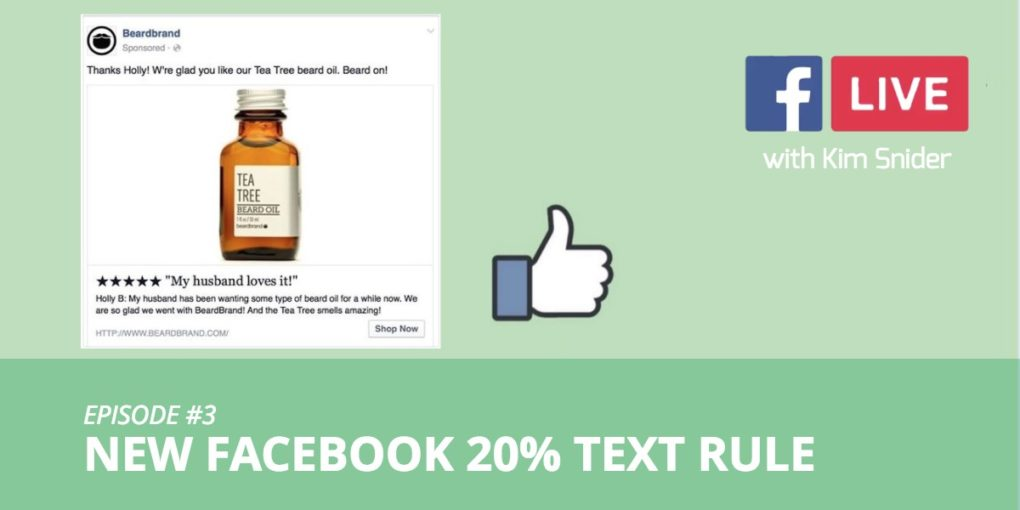 Facebook 20% Text Rule