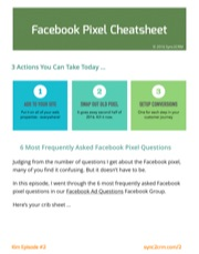 New Facebook Pixel Cheatsheet - Facebook Live Episode #2