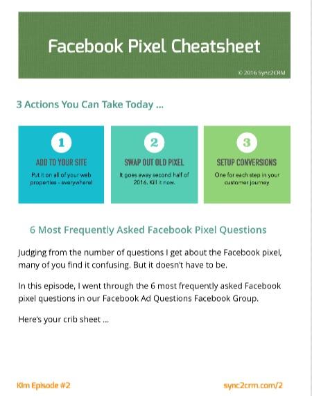 New Facebook Pixel Cheatsheet
