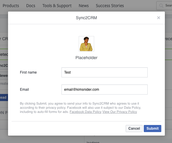 Step 13 - Choose Facebook Ad Account