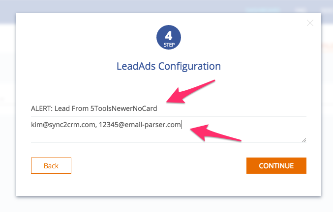 Step 6 - Email when Facebook Lead Ad is received