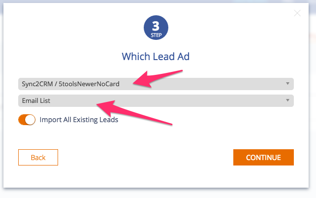 Step 5 - Choose Facebook Ad Account