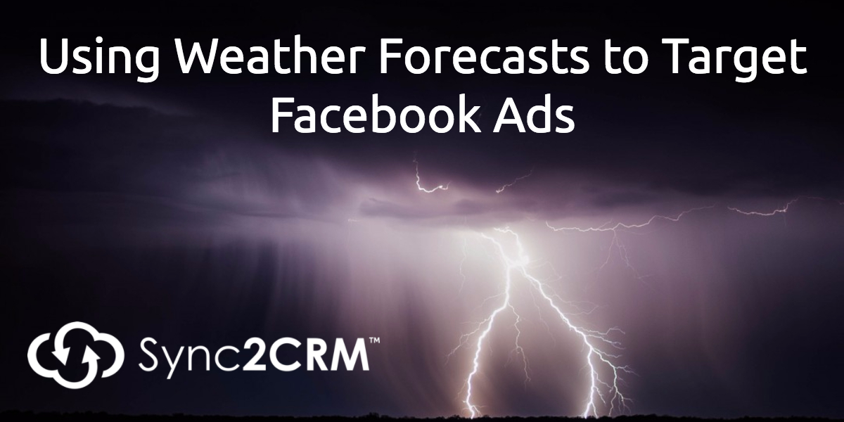 Weather forecast facebook ad targeting